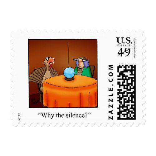Thanksgiving Humor Postage Stamps