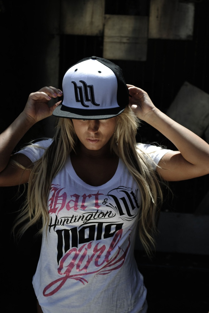 Hart and Huntington flat brim hat - looks so cute on a girl!