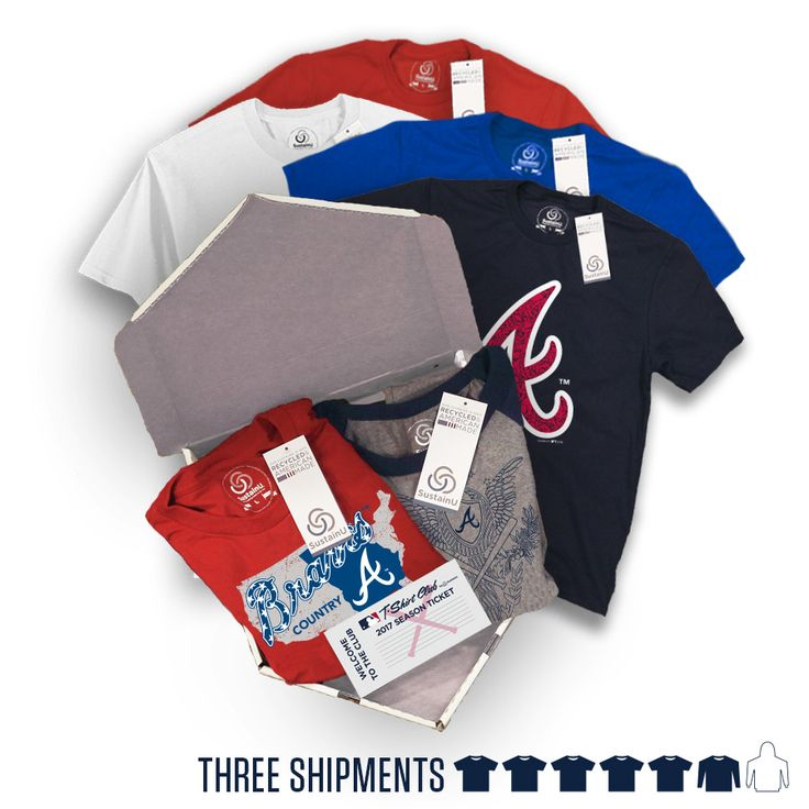 "@atlantabraves - ""The Triple"" Package #AtlantaBraves #Braves #BravesBaseball #ATL #Atlanta #Baseball. Visit our website to learn more about MLB T-Shirt Club! (https://mlbtshirtclub.com/)"
