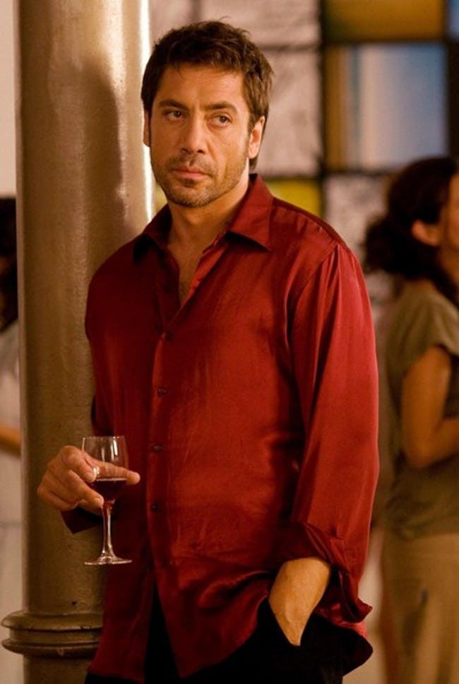 Javier Bardem in Red Silk Long... is listed (or ranked) 4 on the list Hot Javier Bardem Photos