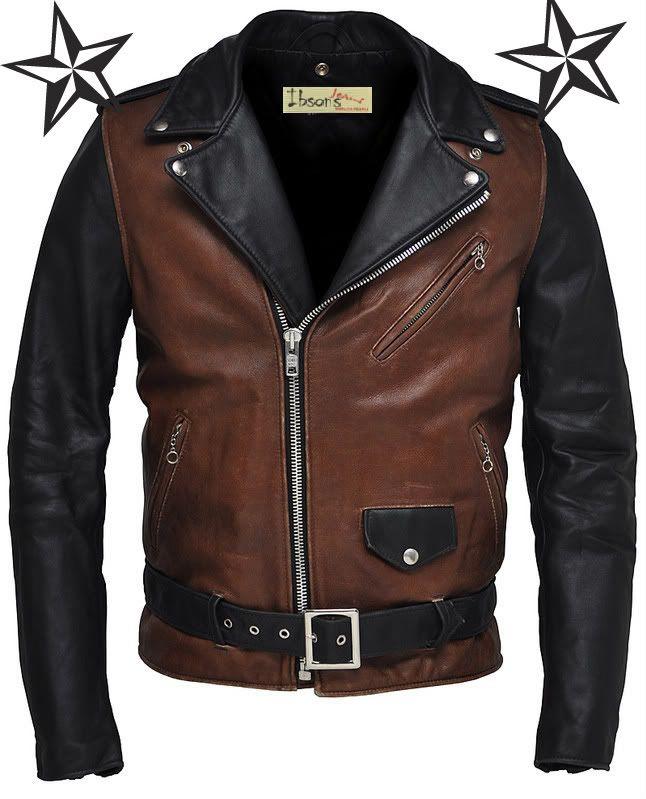 real leather biker jacket ebay