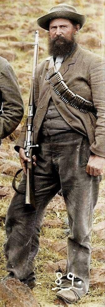 Bauer mit Mausergewehr