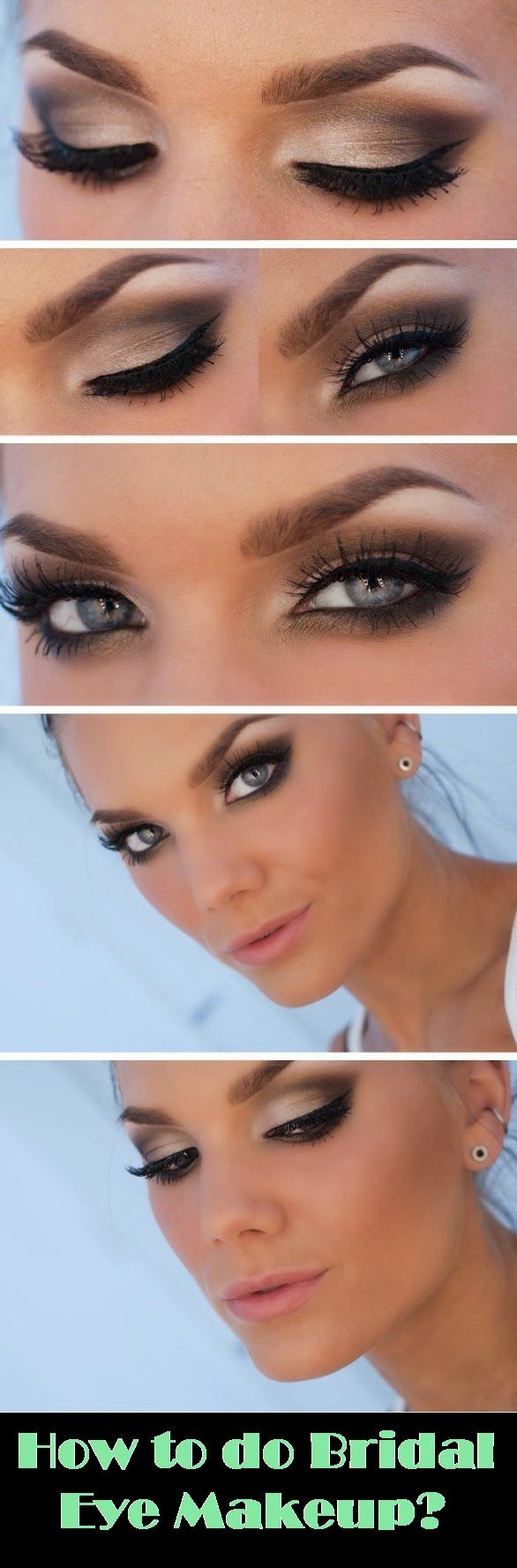 How to do Bridal Eye Makeup? (If you want a smokey eye- can do similar but with lighter shades)