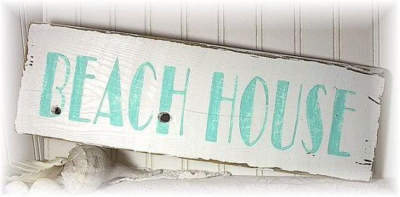 Strand Dekor rustikal Holz Zeichen aufgearbeiteten Holz/Ferienhaus Chic/Beach Haus/Landhaus Beach Home