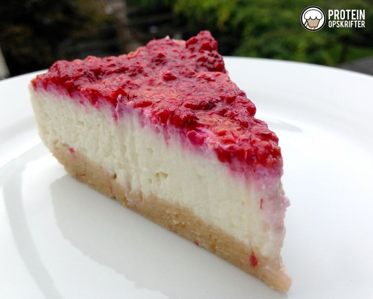 Low carb cheesecake med hindbær