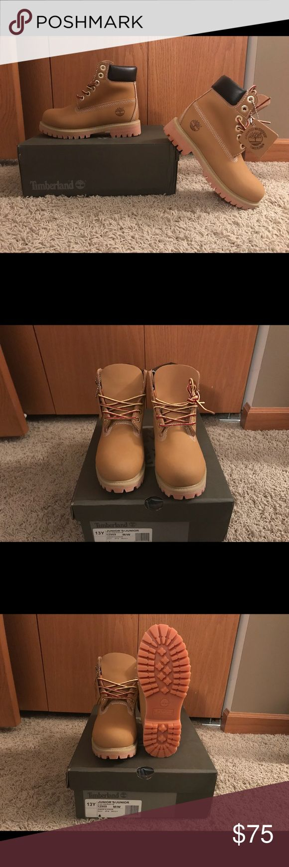 Boys Timberlands Brand New! Wheat; Price is firm Timberland Shoes Boots