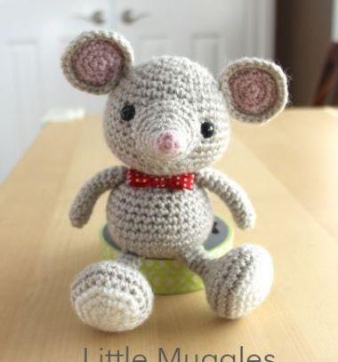 Crocheted ( amigurumi ) baby mouse  // Horgolt ( amigurumi ) egérke // Mindy -  creative craft ideas // #amigurumi #crochetpattern #crocheting #pattern #mouse #egér #horgolás #horgolásminta