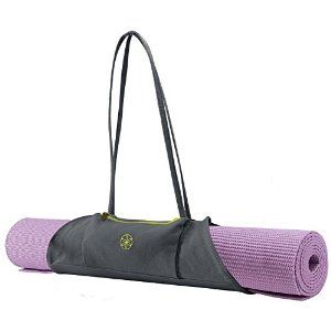 This Gaiam Yoga Mat Carrier is a lightweight and stylish way to carry your mat to and from class!