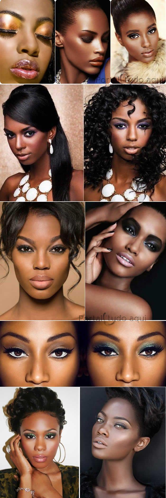 Veja nesta matérias as top 8 perguntas e respostas de dúvidas frequentes sobre maquiagem para pele negra e veja as dicas para uma maquiagem perfeita para festa!