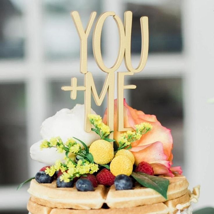 Wood Cake Toppers You And Me Rustic Wedding Topper Romantic Top Decoration Supplies