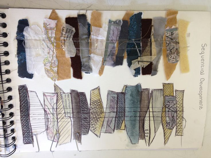 Fashion Sketchbook textiles fabric interpretations for design development