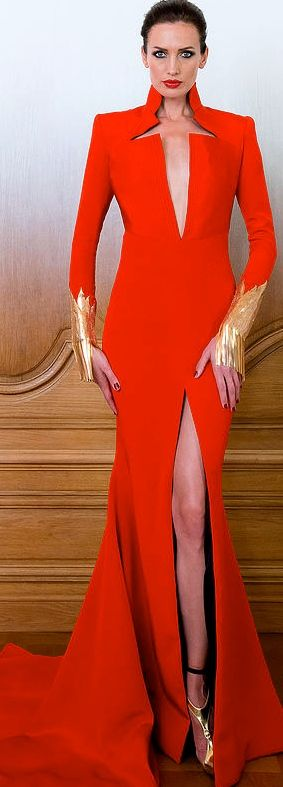 Stephane Rolland Couture FW 2014 - 2015. - ~LadyLuxury ~ I wish I had her body & legs.: