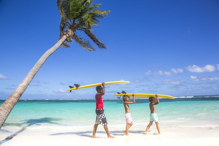 Club Med La Caravelle, Guadeloupe. Surf.