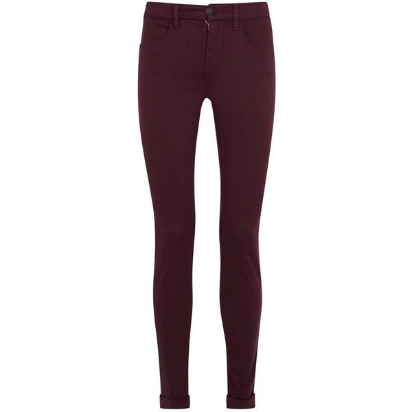 Womens Skinny Jeans J Brand Maria Burgundy Skinny Jeans (5105770 BYR) ❤  liked on - Best 25+ Burgundy Skinny Jeans Ideas On Pinterest Burgundy Pants