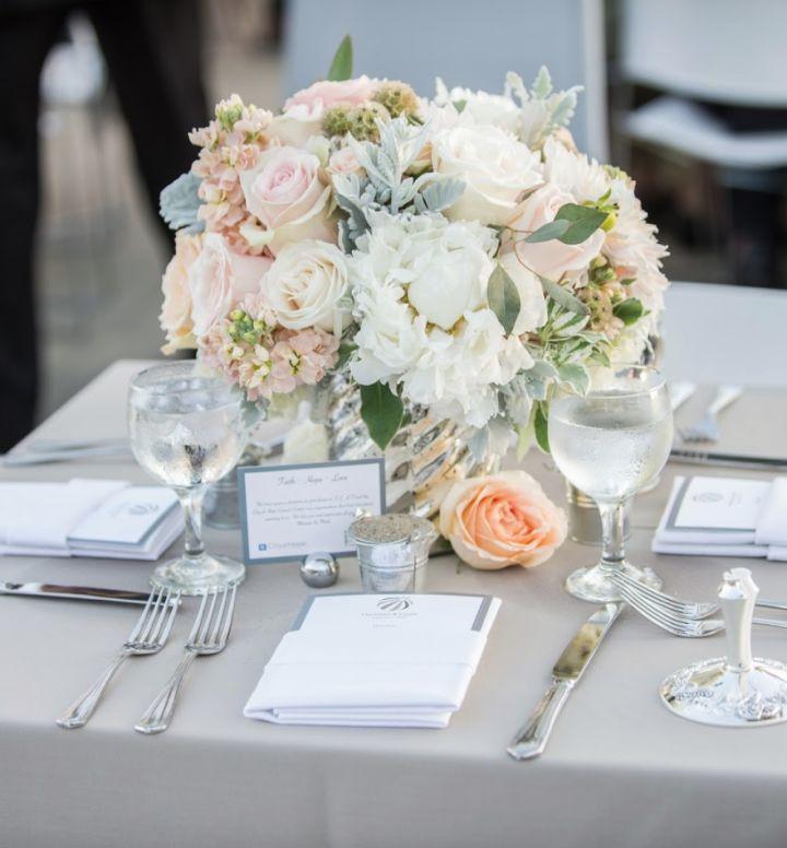 Swooning Over These Fabulous Wedding Flower Ideas; wedding centerpiece. John B Mueller