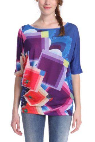 In Offerta! #Offerte Abbigliamento#Buoni Regalo   #Outlet Desigual - Sicilia Maglietta, manica corta, donna, Blu (Blau (Nautical Blue)), L disponibile su Kellie Shop. Scarpe, borse, accessori, intimo, gioielli e molto altro.. scopri migliaia di articoli firmati con prezzi da 15,00 a 299,00 euro! #kellieshop #borse #scarpe #saldi #abbigliamento #donna #regali