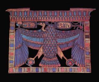 #261p3. Vulture pectoral. KV 62 Tutankhamun.