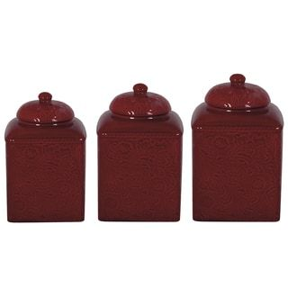 Shop for HiEnd Accents Savannah Red Canister 3-piece Set. Get free delivery at Overstock.com - Your Online Kitchen & Dining Destination! Get 5% in rewards with Club O! - 17111733