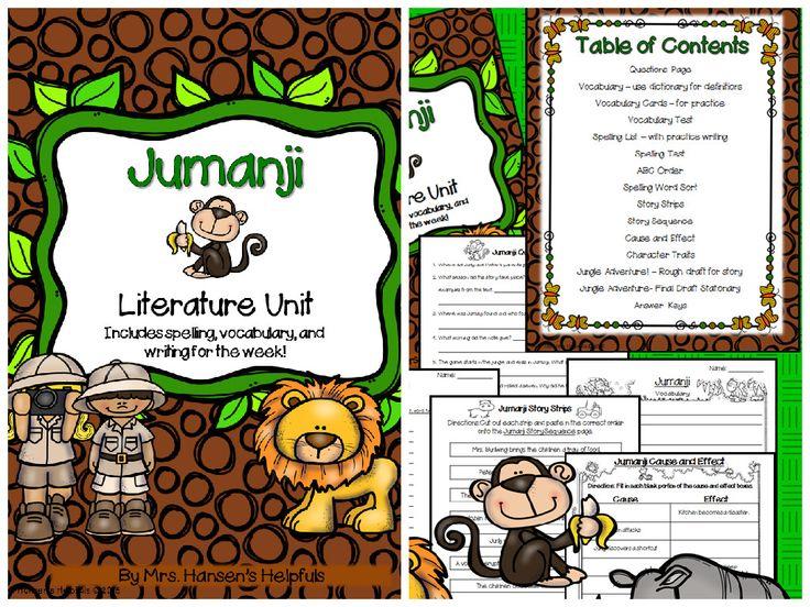 Jumanji is a Caldecott winning book by Chris Van Allsburg. Students love when I read this book. hansenshelpers.blogspot.com