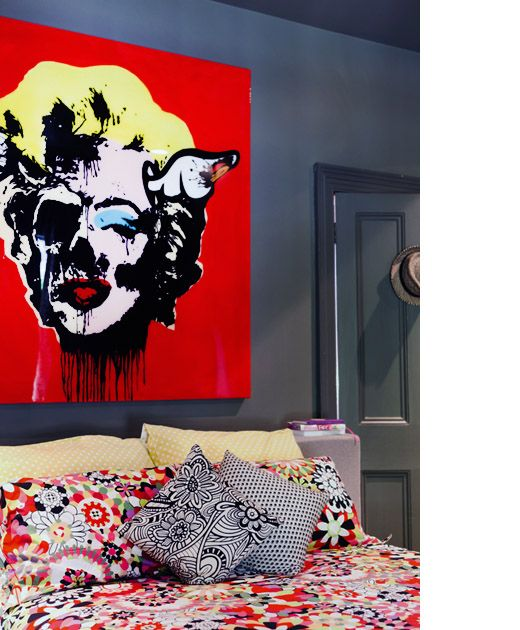 Pop Art Bedroom Designs Two Bedroom Apartments Black And White Small Bedroom Ideas Four Bed Bedroom: 25+ Best Ideas About Artwork Above Bed On Pinterest