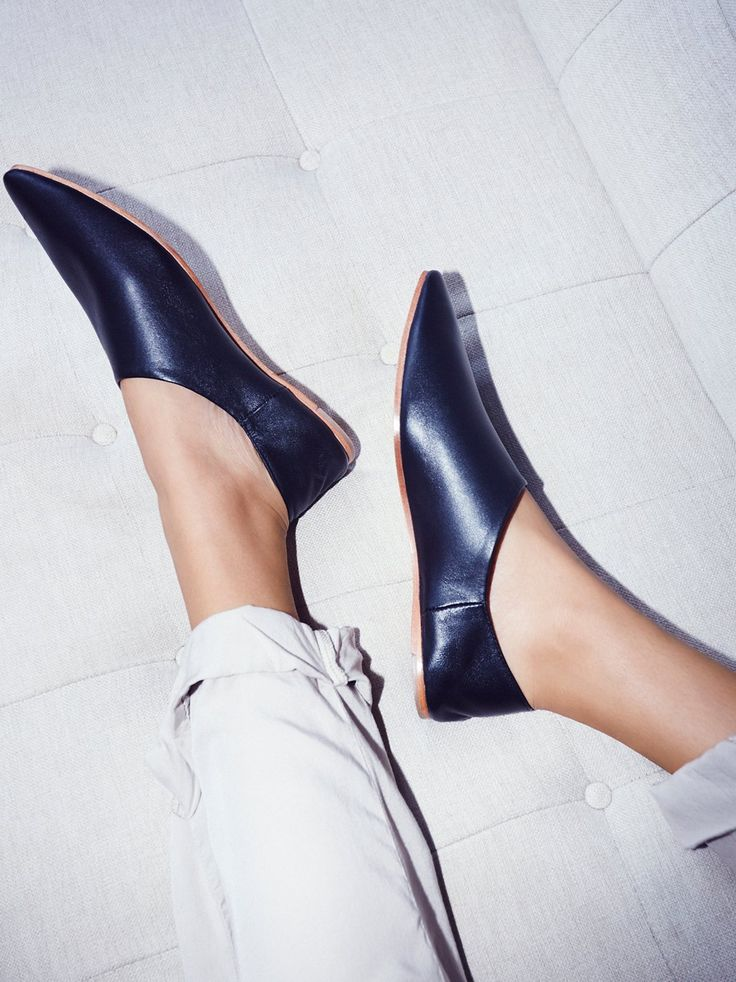 Lexie Leather Flat | Pointed toe flats featured in a super luxe leather. The soft heel in back can be pushed down and this versatile style can also be worn as a mule.