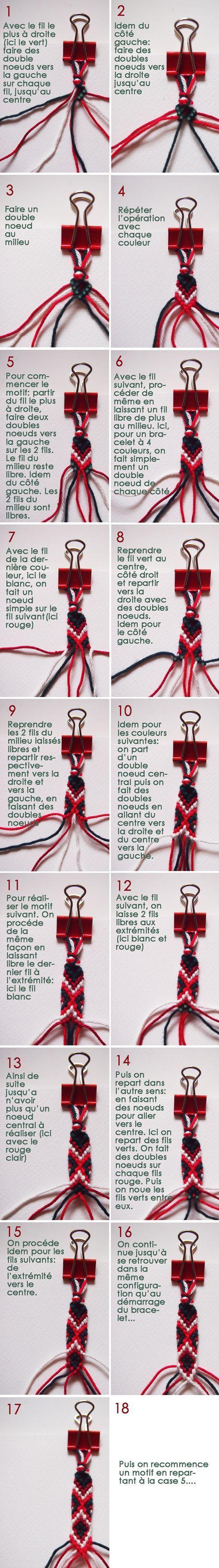 Best DIY Ideas Jewelry:    Tutoriel Motif bracelet bresilien    -Read More –
