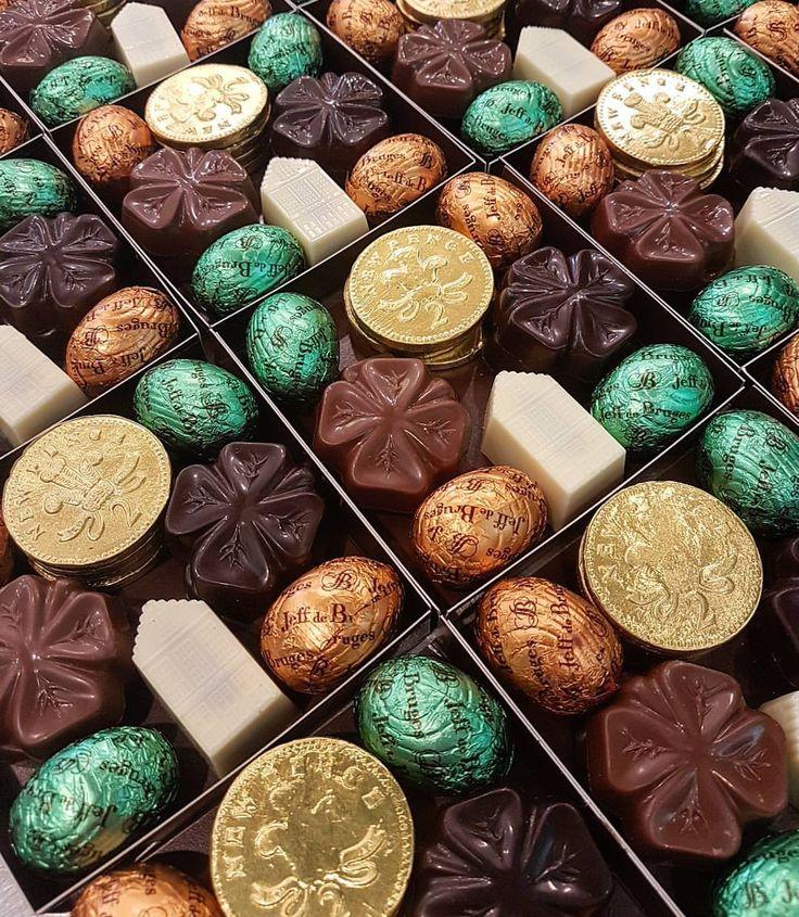 "178 Likes, 4 Comments - Jeff De Bruges (@jeffdebrugeslondon) on Instagram: ""We are preparing St Patrick's collection  #SaintPatricksDay #ChocolateCoins #Chocolates #BeReady"""