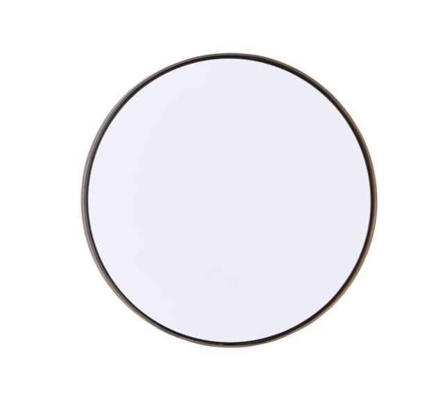 Speil Refleksjon antikk-messing,  Ø40cm