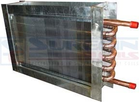 Booster coils are duct-mounted reheat coils designed for air heating applications using hot water.  Used in general heating applications, booster coils are provided with a variety of casing configurations including fully flanged, slip and drive or end plates only.      -http://surefincoils.com/boost-hotwater-coil.html