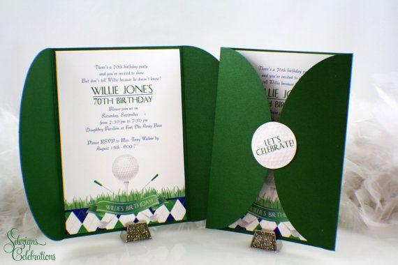 Invitaciones fiestas de golf | Evento de golf | Fiesta de deportes
