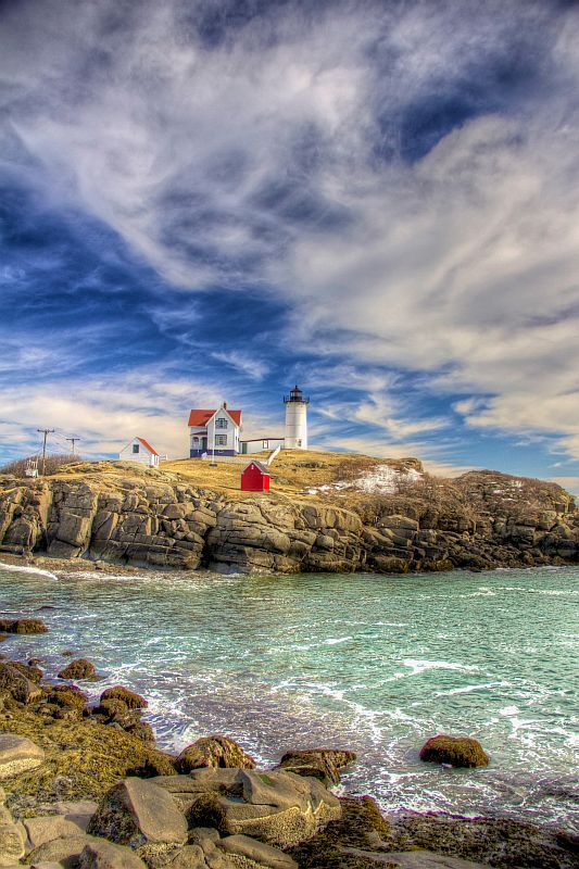 Nubble Cape Neddick Lighthouse Picturesque and accessible Cape Neddick Lighthouse (The Nubble) in York Beach, Maine, draws thousands of visitors each year.
