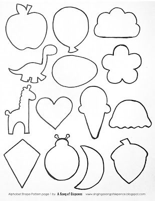 alphabet shapes pattern free printable