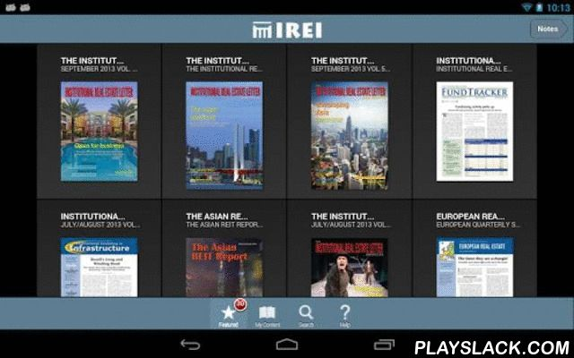 Institutional Real Estate, Inc  Android App - playslack.com , Institutional Real Estate, Inc. is a consulting and publishing firm catering to the institutional real estate marketplace globally. It produces The Institutional Real Estate Letter – North Amer http://www.buzzblend.com