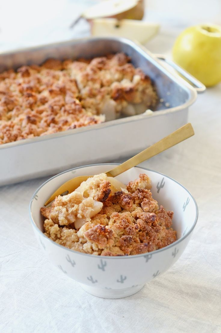 Crumble pomme-poire au sirop d'érable