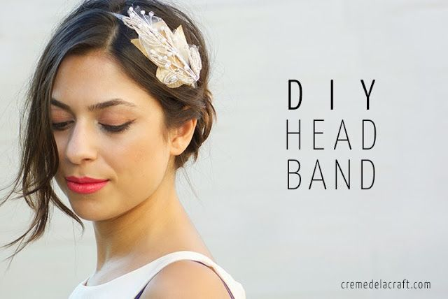 DIY: Beaded Bridal Headband: Beads Headbands, Diy Feathers Headbands, Diy Headbands, Feathers Headbands Diy, Beads Bridal, Diy Hairband, Crafts Blog, Diy Projects, Bridal Headbands