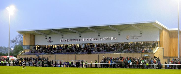 Loughborough University Stadium-  Opened in 2012, the stadium is home to Loughborough University FC and can accommodate crowds of up to 3,500 people.