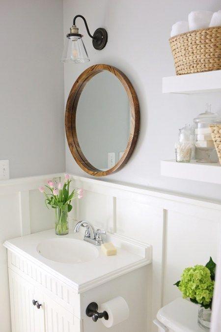 Modern Farmhouse Bathroom Remodel Small Budget Makeover Diy