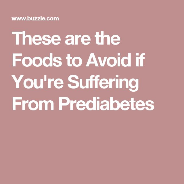 These are the Foods to Avoid if You're Suffering From Prediabetes