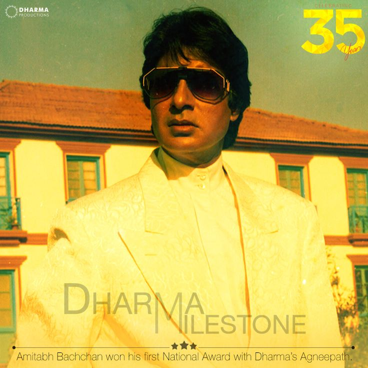 A film, a role which went on to become a classic and paved way for Amitabh Bachchan's first national award.   #DharmaMilestone #35YearsOfDharma