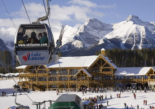 Located in the heart of historic Banff National Park, Lake Louise is a world-class ski-area in a World Heritage site. Eleven square miles of skiable terrain spread over four separate mountain faces are inter-connected by a lift and trail system comparable to the best Europeanski circuit concept. Lake Louise ski resort is comprised of 4,200 skiable acres making up 113 named ski runs.
