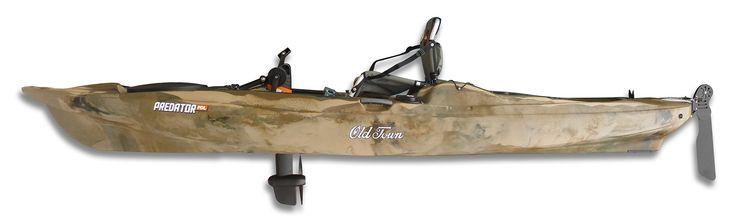 Urkan Kayak: Kayak Pesca modelo Predator PDL de Old Town, el primer kayak de esta marca que incluye pedalinas para poder navegar a pedales mientras pescas.