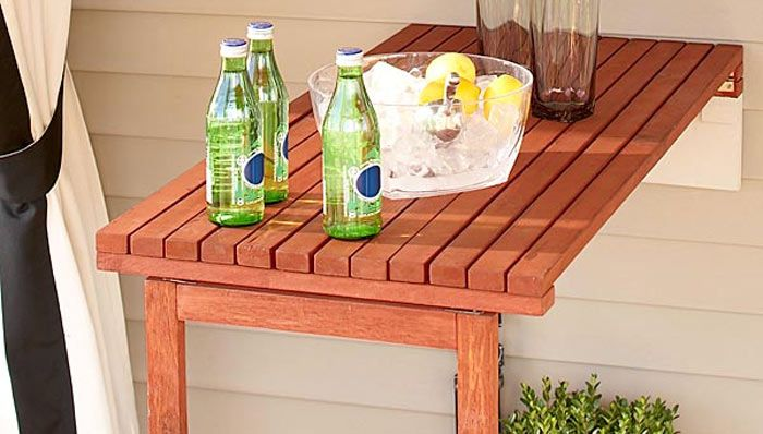fold down patio wood table diy ideas pinterest decks tables and porches. Black Bedroom Furniture Sets. Home Design Ideas