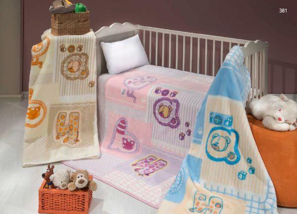 BABY XL 381 dětská deka představuji hebkost a roztomilost ve všech směrech! Nechte své malé hýčkat touto dekou, která je v nabídce ve třech barvách!