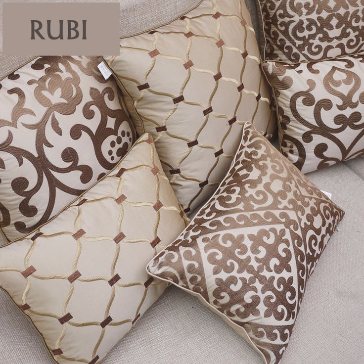 European embroidery cushions luxury decorative throw pillows without inner sofa home decor funda cojines decorativos Z5-in Cushion from Home & Garden on Aliexpress.com | Alibaba Group