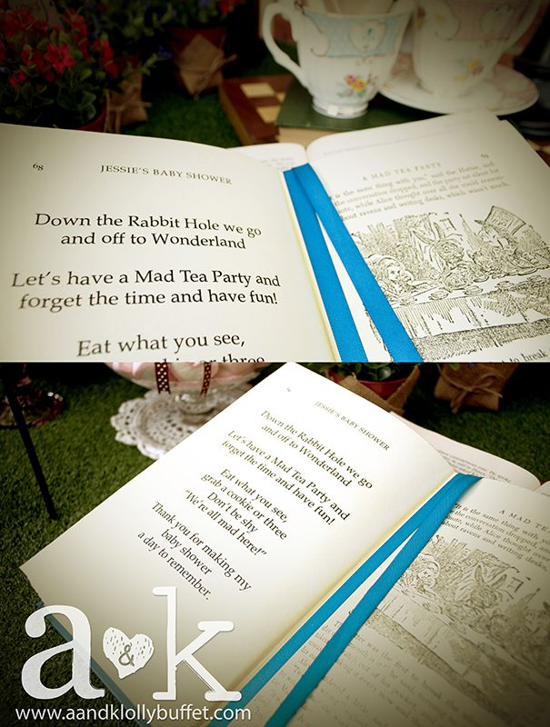 mad hatter teparty invitations pinterest%0A Alice In Wonderland Mad Tea Party Baby Shower Party Ideas
