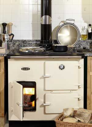 Esse Wood Burning Range Cooker, somehow I just like the idea of a wood burning range. But then...that's before splitting and stacking wood.