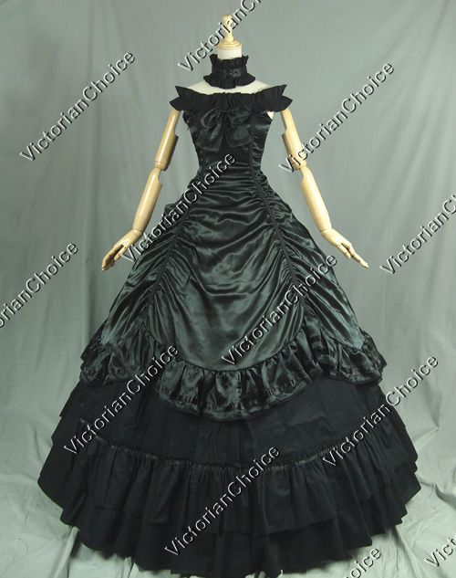 Southern Belle Civil War Gothic Ball Gown Prom Dress Reenactment Clothing - Visit to grab an amazing super hero shirt now on sale!
