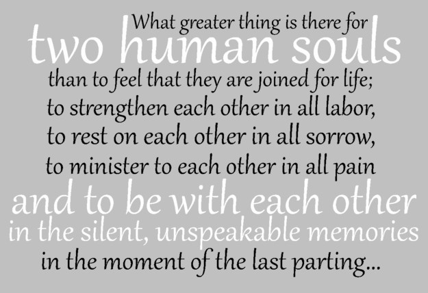 inspirational quote by george eliot love marriage life