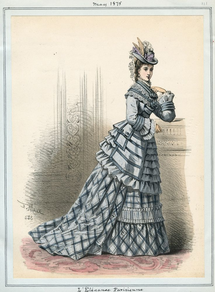 Casey Fashion Plates Detail   Los Angeles Public Library L'Elegance Parisienne Date: Saturday, May 1, 1875