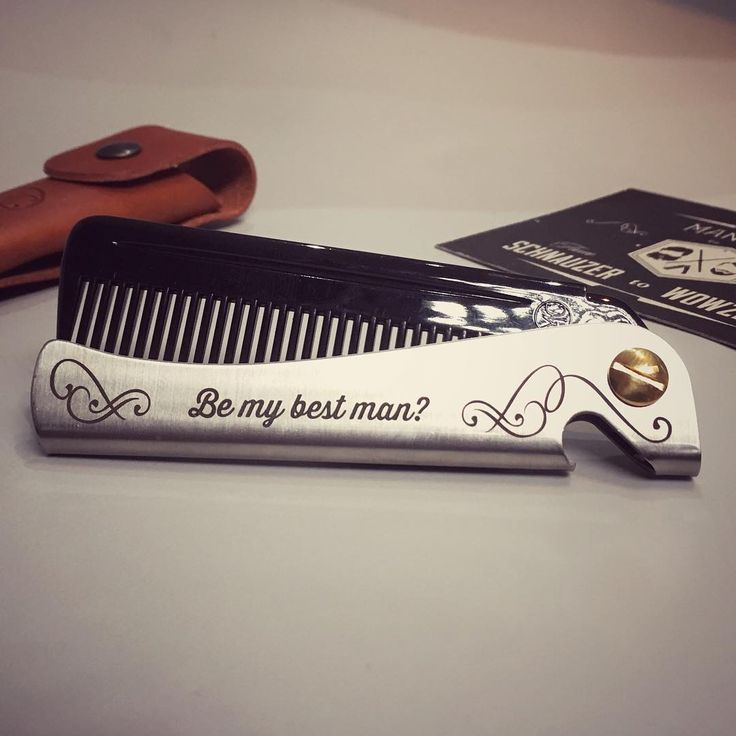 How can he say no?! #malefashion #fashion #comb  #menstyle #mensfashion #beardman #instacool #instafashion #wedding #groomsfashion #weddinggift #weddinggift #weddingideas #madeinmanchester #bestman #stag #groomsman #groomsmen #bestmangift #rocknrollbride